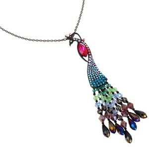 NEW! Betsey Johnson Peacock Pendant
